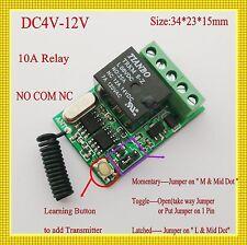 DC4V 5V 6V 7.4V 9V 12V Mini Relay Remote Switch Radio RF RX Receiver ASK Smart H