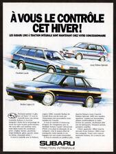 1992 SUBARU Legacy Vintage Original Print AD Loyale wagon Justy Special Edition