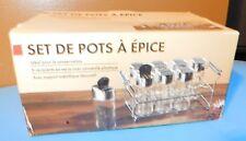 Spice Rack Organizer Stainless Steel 8 Bottle Holder Jars MIB