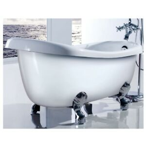 Bath Tub Bathroom Monarch High Back Free Standing Contemporary Soaking Tub White