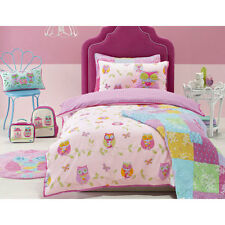 Jiggle & Giggle Owl Song Girls Doona Quilt Cover Set Single Double Queen Size 3 Queen Bed