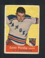 1957-58 Topps #53 Gump Worsley GVG NY Rangers 108362