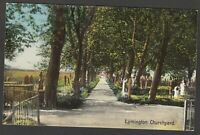 Postcard Lymington Churchyard New Forest Hampshire early view