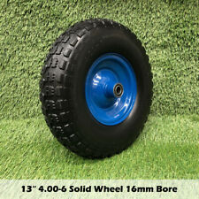13x4 4.00-6 solid 16mm Bore Trolley Wheelbarrow Tyre Wheel Wheels Puncture tyres