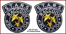 Resident Evil S.T.A.R.S. Raccoon Police Black Costume Logo Patch set of 2