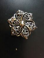 Vintage Stunning DaneCraft Wreath Sterling Pin Marked!1 PRICE SHIPS ALL!