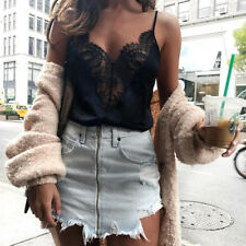 Fashion Women Lace Vest Top Sleeveless Casual Tank Blouse Summer Tops T-Shirt#1