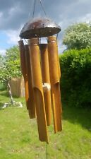 More details for stunning bamboo medium  windchime - coconut  (free trade from bali)