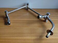 Vintage 2 Head Chrome Shower Head pivots in 3 places