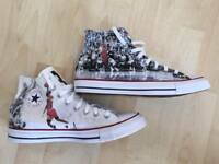 "Scarpe Converse All Star Custom Jordan ""The Last Shot"",artigianali Made in Italy"