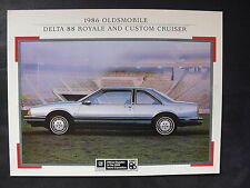 GM Oldsmobile delta 88 Royale Custom Cruiser-us-folleto brochure 09.1985