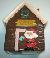 Santa Claus Post Office Vintage Ceramic Coin Bank With Stopper WDWK Christmas