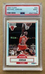 1990-91 FLEER MICHAEL JORDAN CARD #26 GRADED PSA 9 MINT