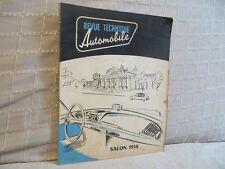 revue technique automobile salon 1958