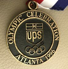 Rare 1996 Ups Olympic Games Opening Ceremony Brass Medallion, Atlanta