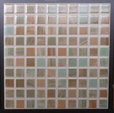1 scatola di piastrelle 20x20 mosaico salvia/beige