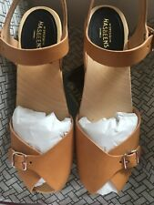 Swedish Hasbeens Pia Super High Sandals Nature Size 5