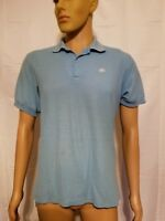Rare NIKE Vintage 1970s 70s Light Blue Polo Shirt Made in USA Orange White Tag