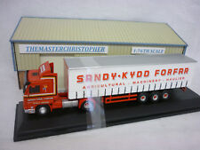 Oxford Diecast/Modern 1:76th Truck Scania 143 Curtainside Sandy Kydd 76S143004