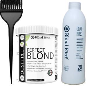 1 lb Tub Premium Hair Bleach Powder Lightener Kit+ 20/30/40 Vol Developer & More