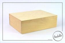 Wooden Storage Box Plain Pine Wood Oversized A5 File Box Decoupage Craft Art