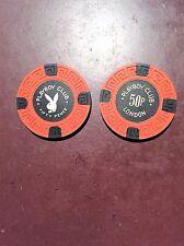 London Fifty Pence Playboy Poker Chip