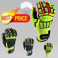 Anti Vibration Oil Safety Glove Shock Absorbing Mechanics Impact Resistant Work