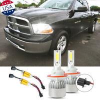 H13 White LED Error Free Headlight Bulbs Kit for Dodge Ram 1500 2500 3500 06-12