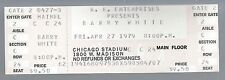 1979 Barry White Full Unused Concert Ticket @ Old Chicago Stadium