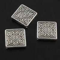 Metallperlen 20mm Tibet Silber Quadrat Zwischenteile Spacer für Schmuck F11