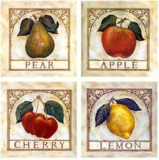 Art Fruits Mural Tumbled Marble Backsplash Tile #152