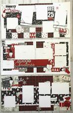 'Kris Kringle' Christmas Pre-Cut 6-page Scrapbook Layout Kit, pre-cut Holidays