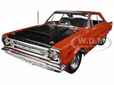 1967 PLYMOUTH GTX HEMI BULLET ORANGE / BLACK LTD ED 714PCS 1/18 BY ACME A1806702