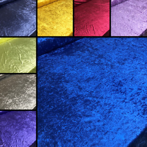Crushed Velvet Craft Upholstery Fabric Cushions Curtains Sofas & Beds