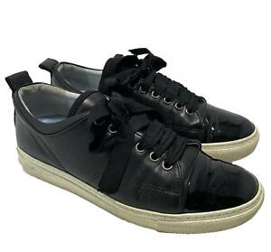 LANVIN CLASSIC BLACK LACE UP SNEAKERS, 37, $695