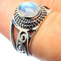 Rainbow Moonstone 925 Sterling Silver Ring Size 7.5 Ana Co Jewelry R26117F
