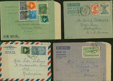 India - Aerogramme- Lot of 4 Air letter to Malasya/USA...........(VG) MV-7405