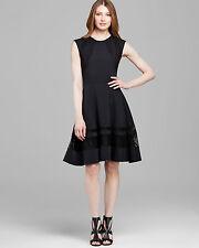 Rachel Roy Black Lace Panel Fit and Flare Elegant Cocktail Dress  .NWT Sz.4