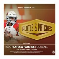 2020 PANINI PLATES AND PATCHES FOOTBALL FACTORY SEALED HOBBY BOX FREE SHIPPING
