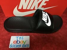 5a77eebd8dd0 Nike Benassi JDI Men s Slide Black White 343880-090 SZ 7-14 Free Shipping