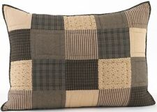 Hand-Quilted Standard Size Pillow Sham Black Gray Cream Patchwork Kettle Grove