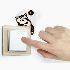 Cute Cat Nap Pet Light Switch Funny Wall Decal Vinyl Stickers Black JBCA FF