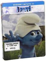 BLU RAY FILM CARTOON 3d I PUFFI LIMITED BOX THE SMURFS MOVIE 1 puffo,puffetta