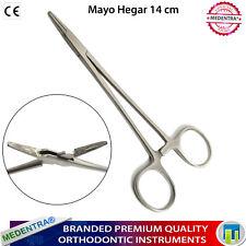 Pinzas Porta Agujas Mayo Fórceps Para Perforaciones Corporales Gran Calidad 14cm