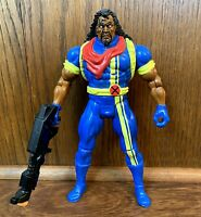 """Bishop Vintage Uncanny X-Men 10"""" Deluxe Action Figure w/ Gun 1994 Toybiz Marvel"""