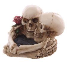 Totenkopf Aschenbecher Skelett Gothic Schädel Skull Figur Skulptur Ashtray Larp