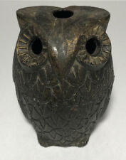 Brass Owl Incense Burner 2 Piece 3 Inches Tall