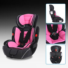 Light Pink Black Convertible Baby Kid Children Car Seat & Booster For 9-36kg