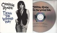 CHRISSIE HYNDE Down The Wrong Way 2014 UK 2-track promo CD Pretenders