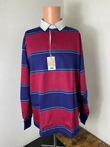 Vintage Gant Rugger men's multicolored striped rugby shirt size L USA NWT Rare